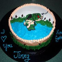 Fishing Cake Client just wanted to say I love you to her BF. Got the idea from a CC, thank you for the idea, forgot their name