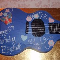 Hannah Montant Guitar Lipgloss Butterflies and Fondant accents. Idea from a CC member, but I forgot her name.. Thank you
