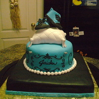 Baby Jaiden Chocolate cake filled with cream all fondant.