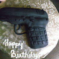 9Mm Chocolate cake with fondant.
