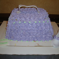 Purse And Shoe Cake My 1st purse cake with gumpaste shoe for a friend's Bridal Shower