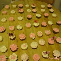 Butterfly And Flower Cupcakes Flower Cupcakes for a Baby Shower