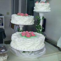 Second Wedding Cake! all buttercreme