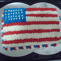 4Th Of July 2010 The American Flag! Happy 4th.. One of the cakes I made for the 4th of July for my mom's BBQ!