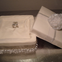 Engagement Cake Engagement ring in the box...