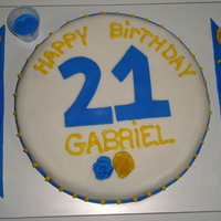 Gabriel's 21St Birthday Cake A cake for my cousin's birthday...He get's one every year from me. :) Made with fondant.