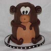 Cute Monkey B/c with fondant accents.