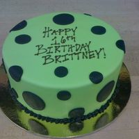 Green With Black Polka Dots
