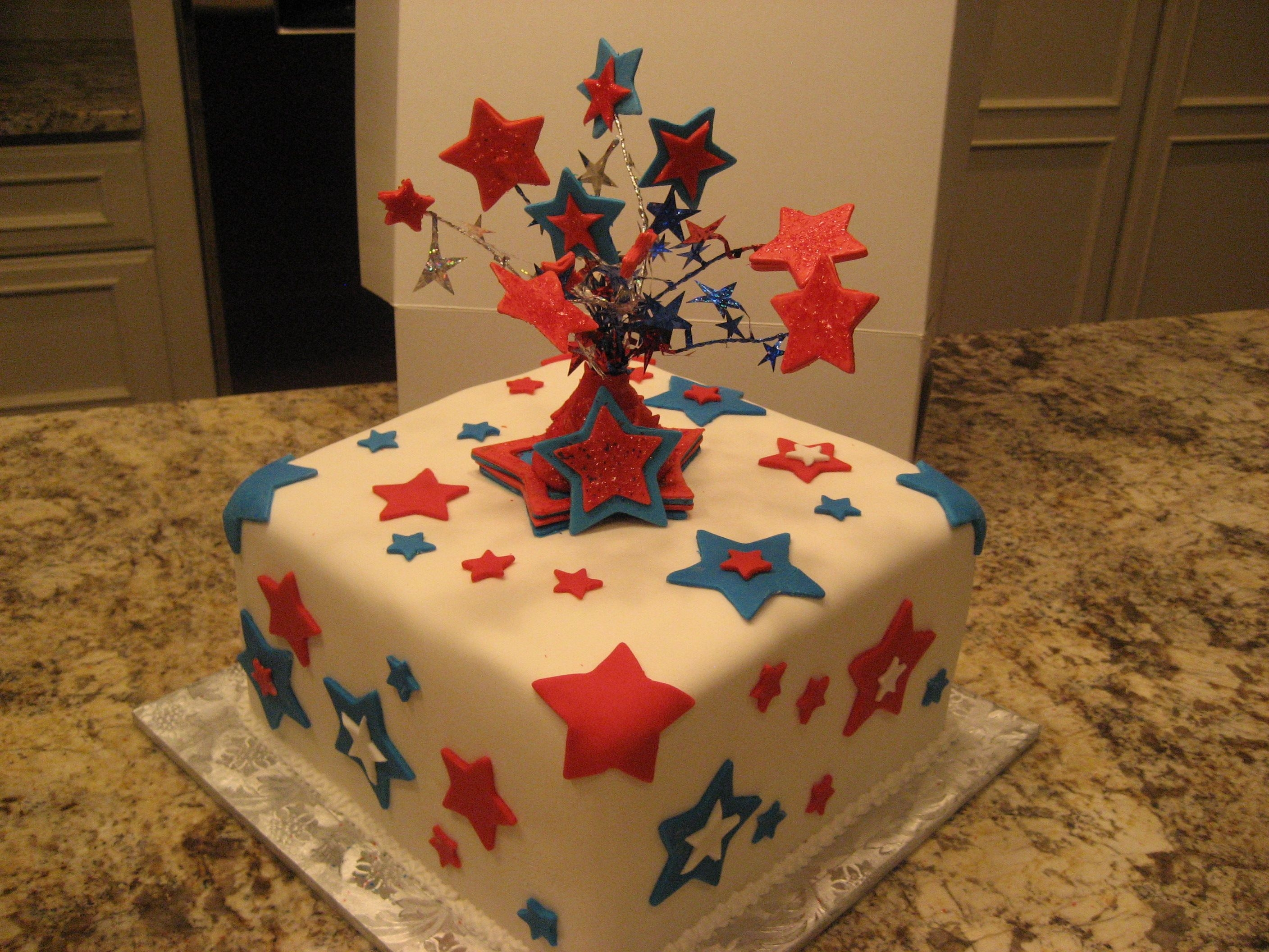 100Th Birthday On Flag Day! Red, white and blue stars