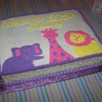 Little Blessing Baby Shower Cake This is a carrot cake with creamcheese filling and buttercream frosting. The cake was themed after the invitations and decorations for the...
