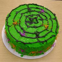Lime Spiderweb   Another cake for my students- this one was their favorite, mostly because of the color!