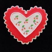Valentine almond flavor with royal icing