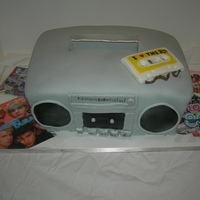 Boombox Cake this was done for a fundraiser which was 80's themed.