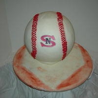 Baseball This is a cake dummy covered in MMF. It is for a funrdaiser for my son's little league.TFL!Jen...,