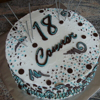 18Th Birthday Buttercream with chocolate decorations