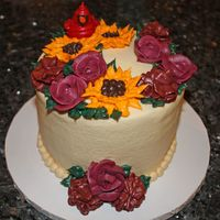 Autumn Birthday Cake I made this cake for my husband's birthday and the fall holidays. The cake is chocolate with amaretto cream filing. All of the...