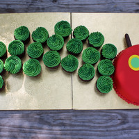 Very Hungry Caterpillar I loved Sugar_N_Spice_Cakes' cake, and copied it for a 3 year old birthday party. The cupcakes are chocolate with vanilla buttercream...