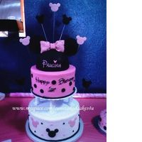 Pinkminniemouse2.jpg Buttercream with fondant accents. Bad lighting and background color in the pic,sorry!