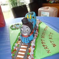 Thomas The Train This is the Thomas The Train cake I did for my grandson's 2nd Birthday. I was hoping to carve it but ran out of time so I used a 3D...