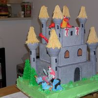 Castle With Knight And Dragon