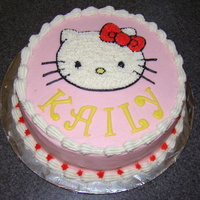 Hello Kitty Here's a cake I made for my cousins daugther for her birthday today. She loves Hello Kitty. I tried the Duff cake mix in white. Never...