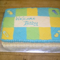 Baby Quilt Whole top is a frozen buttercream transfer.