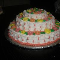 Baskets Of Roses This cake was for a bake sale, but would be lovely as a Mother's Day cake. It was baked in a single pan that looks like a three tier...