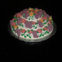 Floral Cascade This cake was actually for a spring bake sale, but it would also be a lovely mother's day cake. It was baked in a single pan that...