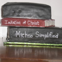 Brad's Books This cake was for my husband who is a student at a seminary.