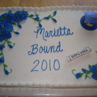 Royal; Blue Graduation   Buttercream Frosting