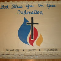 Pastor Ordination Buttercream/Fondant Decorations, Religion
