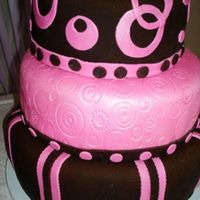 Sweet 15 I made this for my friend's daughter. It was her 15th b-day. I used Satin Ice chocolate fondant (best fondant I've ever used),...