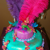 8Th Birthday Cake Here is a cake I made for a friend's daughter. It was her 8th b-day and she wanted a butterfly cake. I would have done a better job,...