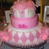 Girl Baby Shower Here is a cake I made for my friend's baby shower.