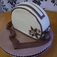 "Auntie Joyce's Birthday Cake I made this from an 8"" round HD Sponge (with a little trimed from one end) it is Fondant covered with fondant accents. I was inspired..."