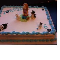 Dogs   Cake with Buttercream and fondant doggies