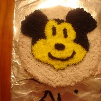 Mickey Mouse I drew the Mickey Mouse by hand from just looking at a photo. This was my daughters cake at the party.