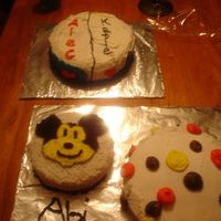 Threesome I had to do all three of these cakes for one big birthday party. Look at the following couple of pics to see them more up close.