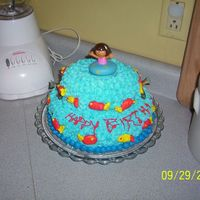 Fishing Cake This was all done by hand and in the dark. We lost power as I was doing it.