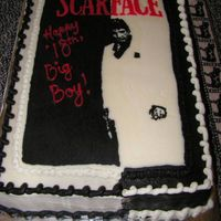 Scarface This was for an 18 year old's birthday & this was his favorite movie.I did an iciing transfer.