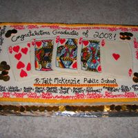 Royal Flush  This grad cake is for a Gr.8 graduation with a 'Las Vegas' theme. (My third year being hired to do their cake....an honor!)It is...