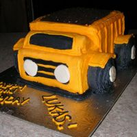 3-D Dump Truck I googled this cake and just came up with my own design eventually since I couldn't find something suitable.Mostly buttercream, some...