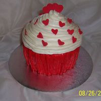Giant Cupcake Red velvet cake with cream cheese icing
