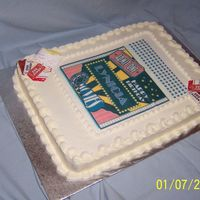 Movie Lover Italian Cream cake with buttercream & edible image