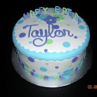Taylor Chocolate cake with chocolate buttercream covered in fondant with fondant accents