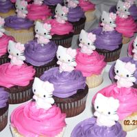 Hello Kitty Cupcakes Chocolate and vailla cake with buttercream