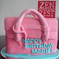 Zen Zest Birkin Cake A cake made for a local bath and body product company, Zen Zest. It was for their endorser's birthday. Take note, the logo is ALSO...