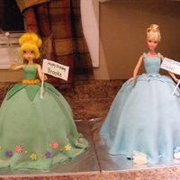 Cinderella And Tinkerbell twin girls birthday