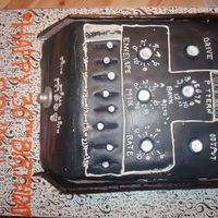 Bryan's 30Th Moogerfooger MuRF guitar effect pedal that my hubby wanted, but I could not afford, so I made it out of cake...that's what everyone...