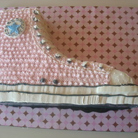 Pink Shoe Shoe cake from the cover of ACD. marble cake with nutella filling. IMBC